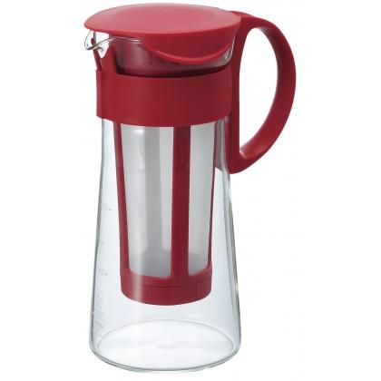Jarra mini con filtro para café frio rojo 600ml Hario