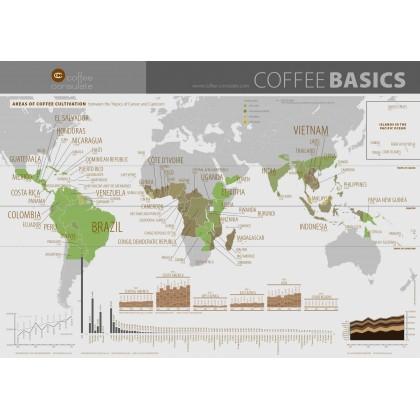 MAPA DEL MUNDO (PAISES PRODUCTORES DEL CAFÉ) EN INGLÉS