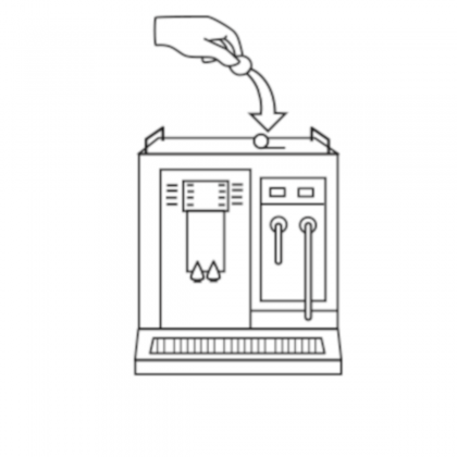 Pastillas detergente maquinas automáticas de café N10