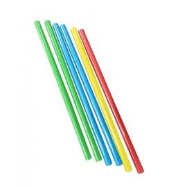 Pajita recta de colores (500ud)