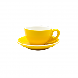 TAZA & PLATO EPIC FLATE WHITE AMARILLO 150ML