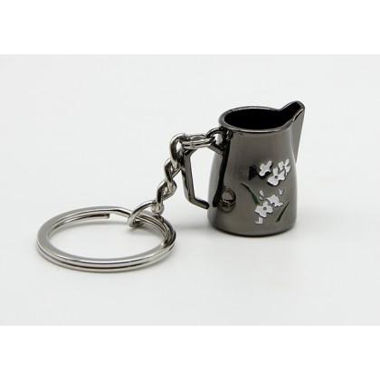 Llavero Jarra Latte Art Negro