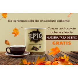 EPIC CHOCOLATE CALIENTE + TAZA & PLATO 230ML (GRATIS)