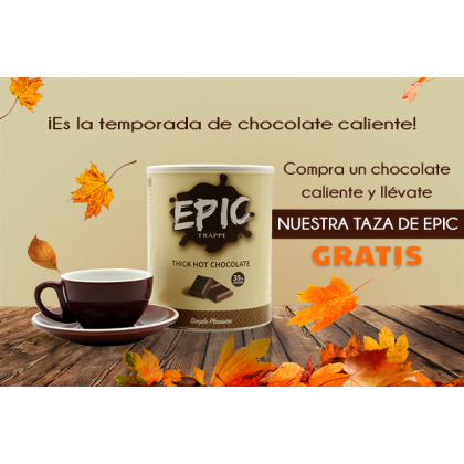 EPIC CHOCOLATE CALIENTE + TAZA & PLATO 230ML GRATIS