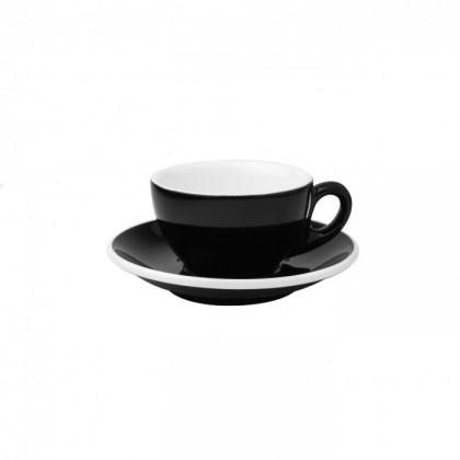 CUP & PLATE EPIC TULIP BLACK 145ML