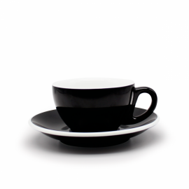 TAZA & PLATO EPIC LATTE NEGRO 230ML