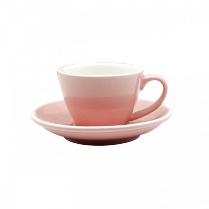 CUP & PLATE EPIC FLAT WHITE PINK 150ML