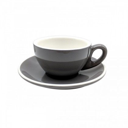 CUP & PLATE EPIC TULIP GRAY 145ML