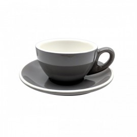 CUP & PLATE EPIC FLAT WHITE GRAY 150ML