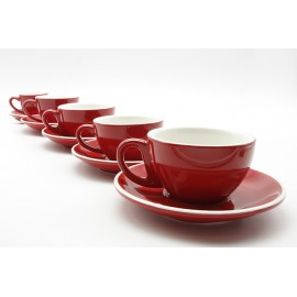 TAZA & PLATO EPIC LATTE ROJO 180ML