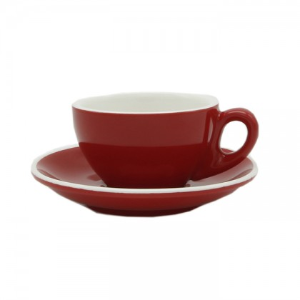 CUP & PLATE EPIC LATTE RED 180ML