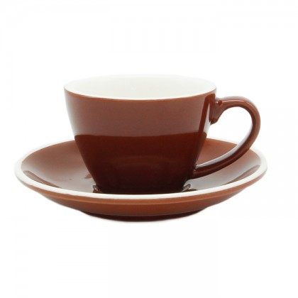 CUP & PLATE EPIC TULIP CARAMEL 145ML