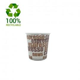 Vasos Take Away Cartón 4 oz. Espresso Coffee News