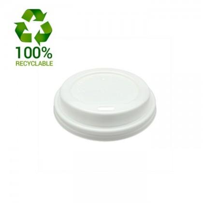 Tapas blancas de plástico