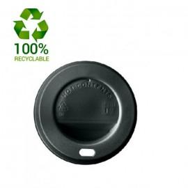 Tapas negras de plástico 120ml 4oz 1000 uds