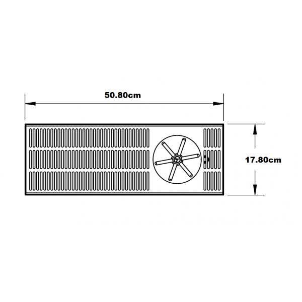 Limpia de Jarras con bandeja de 508mm