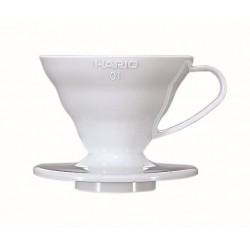 HARIO V60 01 WHITE PLASTIC