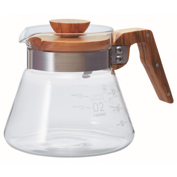 HARIO V60 OLIVE WOOD GLASS...