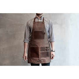 Brown Barista Apron