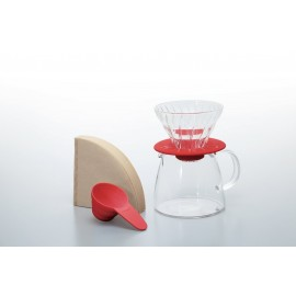 Hario V60 01 + Pot - Red