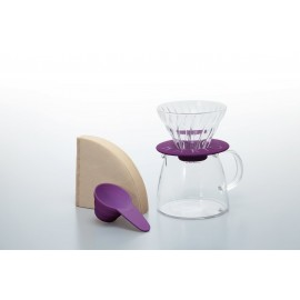 Hario V60 01 + Pot - Purple