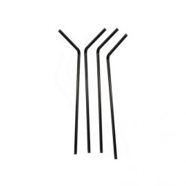 Black bending straws